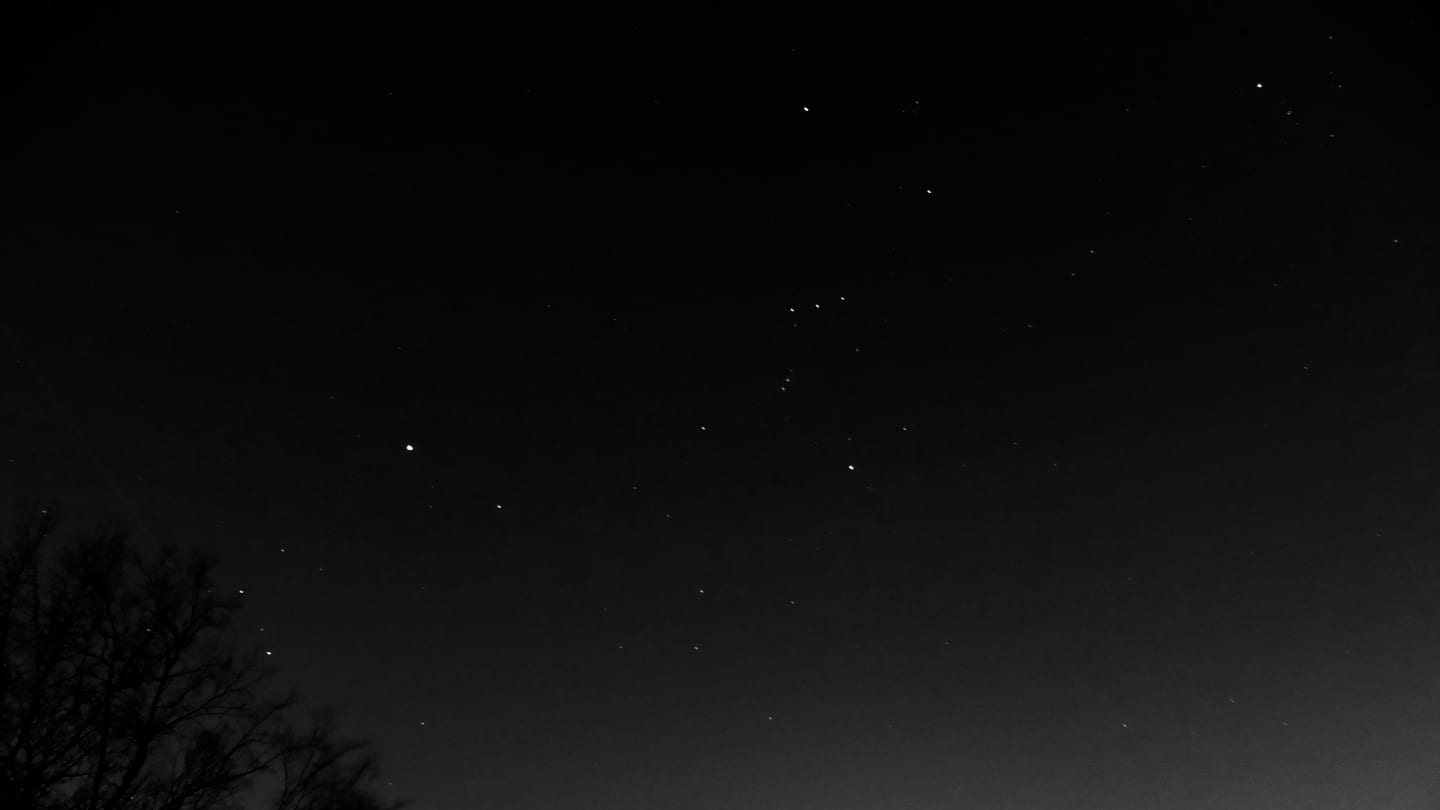 Picture of the constellation Orion